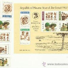 Sellos: SERIE DE NAURU. BOY SCOUTS. 1982. Lote 37618640