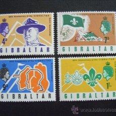 Selos: GIBRALTAR Nº YVERT 207/0*** AÑO 1968. 60 ANIVERSARIO SCOUTS DE GIBRALTAR. Lote 37640934