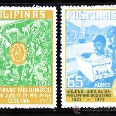 Sellos: FILIPINAS 945/46** - AÑO 1973 - 50º ANIVERSARIO MOVIMIENTO SCOUT DE FILIPINAS. Lote 38223089