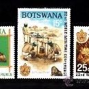 Sellos: BOTSWANA 203/05** - AÑO 1969 - CONFERENCIA MUNDIAL DE SCOUT DE HELSINKI. Lote 38761820