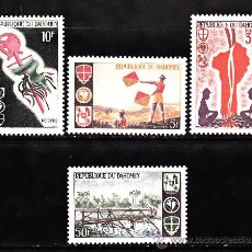 Timbres: DAHOMEY 242/45** - AÑO 1966 - MOVIMIENTO SCOUT. Lote 208647911