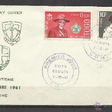 Sellos: A413-SOBRE PRIMER DIA TOGO BOYS SCOUTS 1961 FIRTS DAY COVER SCOUTISME. Lote 39316399