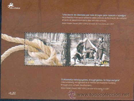 PORTUGAL ** & EUROPA, AÇORES 100 ANOS DO ESCUTISMO 2007 (Sellos - Temáticas - Boy Scout)