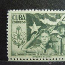 Sellos: CUBA Nº YVERT 416*** AÑO 1954. 3º ENCUENTRO DE SCOUTS CUBANOS. Lote 293835348