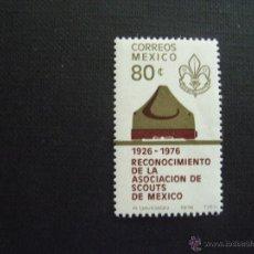 Sellos: MEXICO Nº YVERT 829*** AÑO 1976. 50 ANIVERSARIO ASOCIACION MEXICANA DE SCOUTS. Lote 40097224