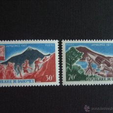 Sellos: DAHOMEY Nº YVERT 259/0*** AÑO 1967. SCOUTS. JAMBOREE MUNDIAL DE IDAHO. Lote 212979971