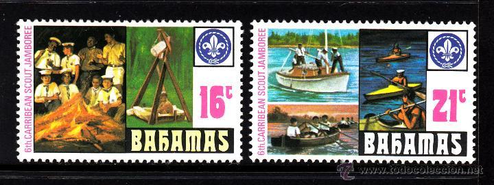 BAHAMAS 408/09** - AÑO 1977 - 6º JAMBOREE SCOUT DEL CARIBE (Sellos - Temáticas - Boy Scout)