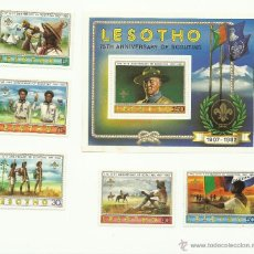 Sellos: MAGNÍFICA SERIE BOY SCOUTS DE LESHOTO. Lote 41478798