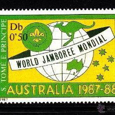 Sellos: SANTO TOME 893** - AÑO 1987 - JAMBOREE MUNDIAL SCOUT DE AUSTRALIA. Lote 41581775