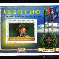 Sellos: LESOTHO HB 13** - AÑO 1982 - 75º ANIVERSARIO DEL MOVIMIENTO SCOUT. Lote 42065027