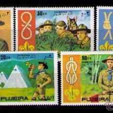Sellos: FUJEIRA 1971 - BOY SCOUTS - YVERT Nº 117 (5 SELLOS). Lote 42269059