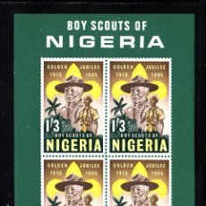 Sellos: NIGERIA HB 5** - AÑO 1963 - JAMBOREE MUNDIAL SCOUT DE MARATHON. Lote 215847108