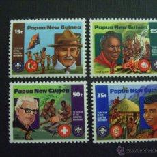 Sellos: PAPUA NUEVA GUINEA Nº YVERT 426/9*** AÑO 1982. 75 ANIVERSARIO DE LOS SCOUTS. Lote 45270151