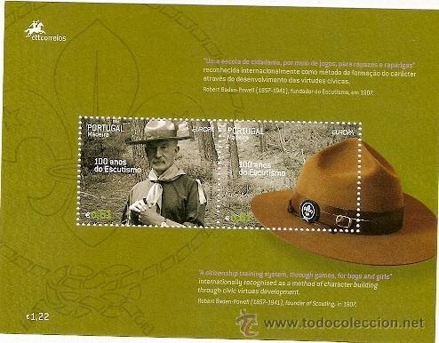 PORTUGAL ** & EUROPA MADEIRA 100 ANOS DE ESCUTISMO, BADEN POWELL 2007 (355) (Sellos - Temáticas - Boy Scout)