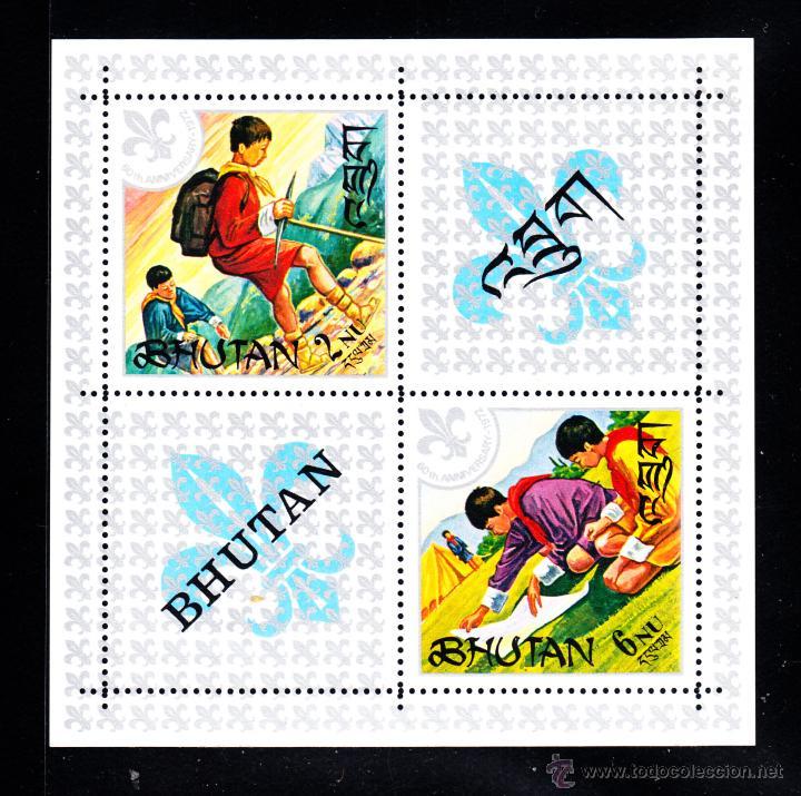 BHUTAN HB 42** - AÑO 1971 - 60º ANIVERSARIO DEL MOVIMIENTO SCOUT (Sellos - Temáticas - Boy Scout)