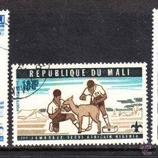 Sellos: MALI AEREO 280/82 - AÑO 1976 - 1º JAMBOREE SCOUT AFRICANA, NIGERIA. Lote 45999735