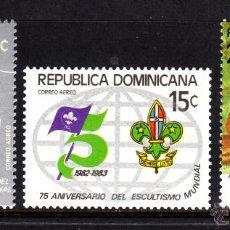 Sellos: DOMINICANA AEREO 403/05** - AÑO 1977 - 75º ANIVERSARIO DEL MOVIMIENTO SCOUT. Lote 46000330
