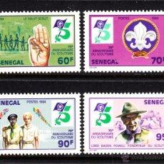 Stamps - SENEGAL 607/10** - AÑO 1984 - 75º ANIVERSARIO DEL MOVIMIENTO SCOUT - 46245761