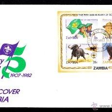 Sellos: ZAMBIA SPD HB 11 - AÑO 1982 - 75º ANIVERSARIO DEL MOVIMIENTO SCOUT. Lote 46461707