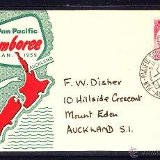 Sellos: NUEVA ZELANDA SPD 374 - AÑO 1959 - JAMBOREE SCOUT PAN PACIFIC DE AUCKLAND. Lote 46552682