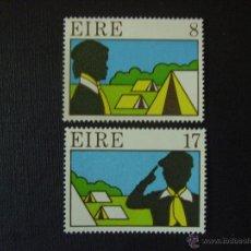 Sellos: IRLANDA. Nº YVERT 366/7*** AÑO 1977. 50 ANIVERSARIO SCOUTS EN IRLANDA. Lote 46622025