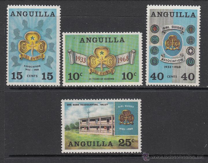 ANGUILLA 24/27* - AÑO 1968 - 30º ANIVERSARIO DEL MOVIMIENTO SCOUT FEMENINO (Sellos - Temáticas - Boy Scout)