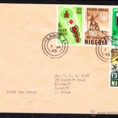 Sellos: NIGERIA SPD 165/68 - AÑO 1965 - 50º ANIVERSARIO DEL MOVIMIENTO SCOUT NIGERIANO. Lote 208647832
