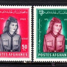 Stamps - AFGANISTAN 552/53** - AÑO 1961 - SCOUT FEMENINOS - DIA DE LA MUJER - 47443771