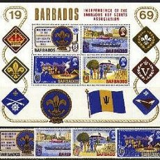Sellos: BARBADOS 1969 INDEPENDENCIA BOY SCOUTS. Lote 47459975