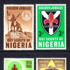 Timbres: NIGERIA 165/68** - AÑO 1965 - 50º ANIVERSARIO DEL MOVIMIENTO SCOUT NIGERIANO. Lote 48064659