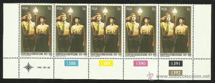 SUDAFRICA 1981 SERIE DE SELLOS TEMATICA BOY SCOUTS- 50 ANIVERSARIO DEL MOVIMIENTO SCOUT (Sellos - Temáticas - Boy Scout)