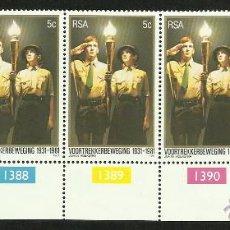 Sellos: SUDAFRICA 1981 SERIE DE SELLOS TEMATICA BOY SCOUTS- 50 ANIVERSARIO DEL MOVIMIENTO SCOUT. Lote 49010149