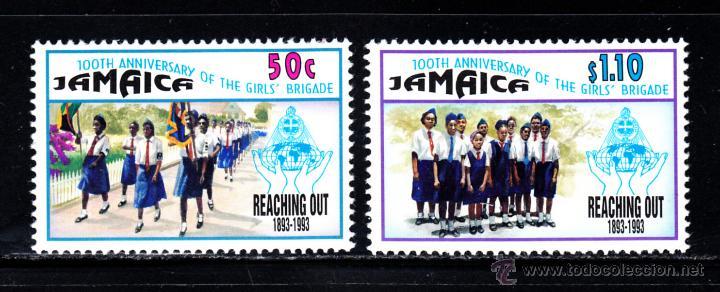JAMAICA 826/27** - AÑO 1993 - CENTENARIO DEL MOVIMIENTO SCOUT FEMENINO (Sellos - Temáticas - Boy Scout)