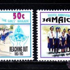 Sellos: JAMAICA 826/27** - AÑO 1993 - CENTENARIO DEL MOVIMIENTO SCOUT FEMENINO. Lote 49189086