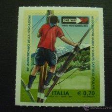 Sellos: ITALIA Nº YVERT 3481*** AÑO 2014. 40 ANIVERSARIO ASOCIACION SCOUTS CATOLICOS DE ITALIA. Lote 210698367