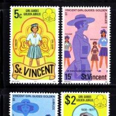 Sellos: SAN VICENTE 491/94** - AÑO 1977 - 50º ANIVERSARIO DEL MOVIMIENTO SCOUT FEMENINO DE SAN VICENTE. Lote 212570575