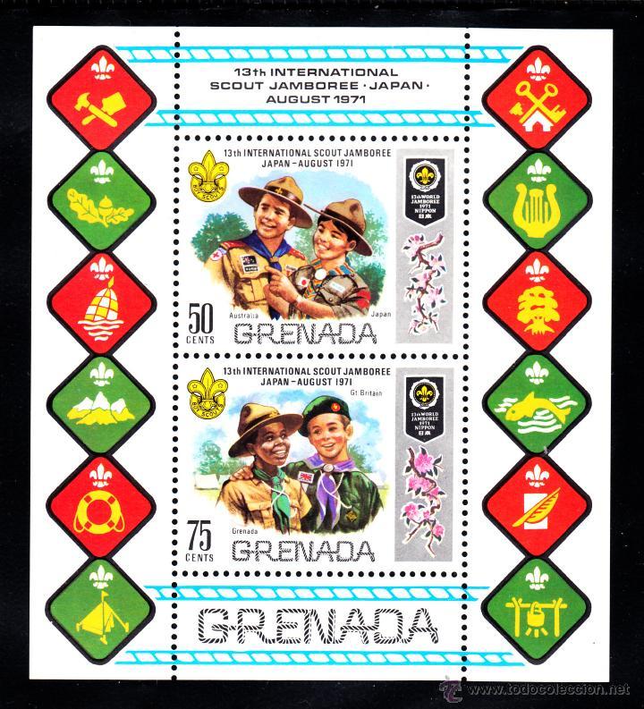 GRANADA HB 14** - AÑO 1971 - INTERNACIONAL JAMBOREE SCOUT DEL JAPON (Sellos - Temáticas - Boy Scout)