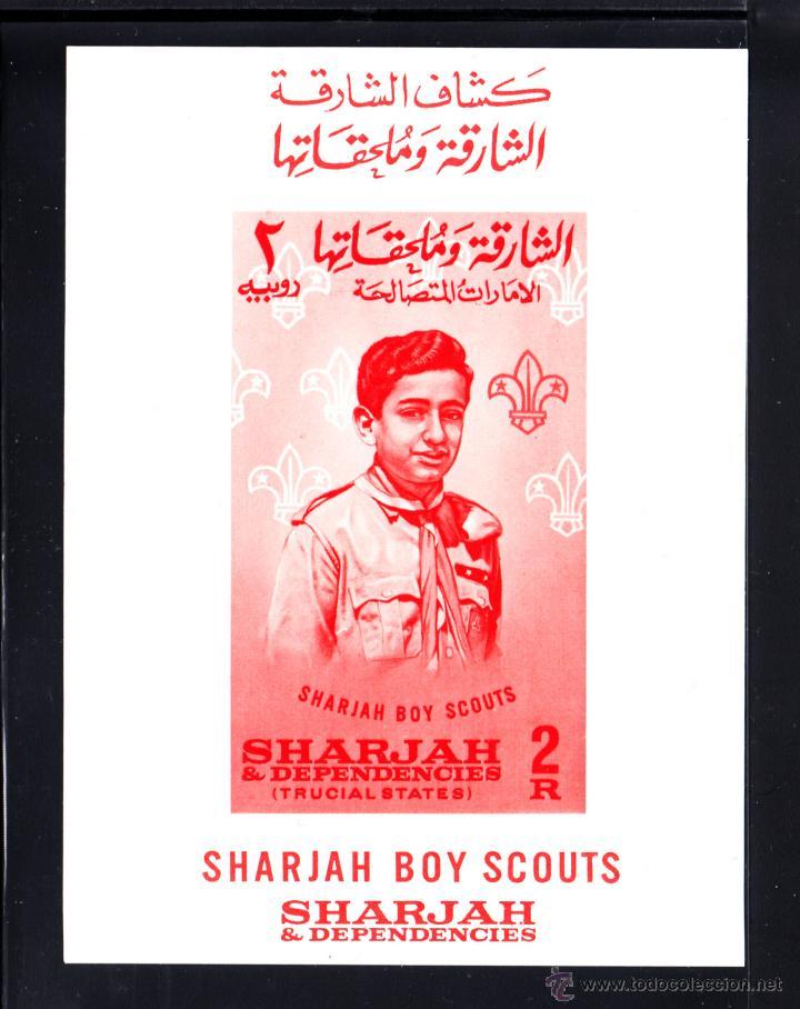 SHARJAH HB 9** - AÑO 1964 - SCOUT - MOVIMIENTO SCOUT (Sellos - Temáticas - Boy Scout)