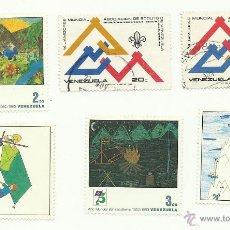 Sellos: TEMÁTICA BOY SCOUTS. LOTE DE SELLOS DE VENEZUELA. Lote 52712998
