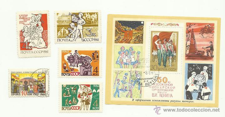 TEMÁTICA BOY SCOUTS. ESPECTACULAR LOTE DE SELLOS DE LA UNION SOVIETICA URSS (Sellos - Temáticas - Boy Scout)