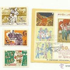 Sellos: TEMÁTICA BOY SCOUTS. ESPECTACULAR LOTE DE SELLOS DE LA UNION SOVIETICA URSS. Lote 52713069