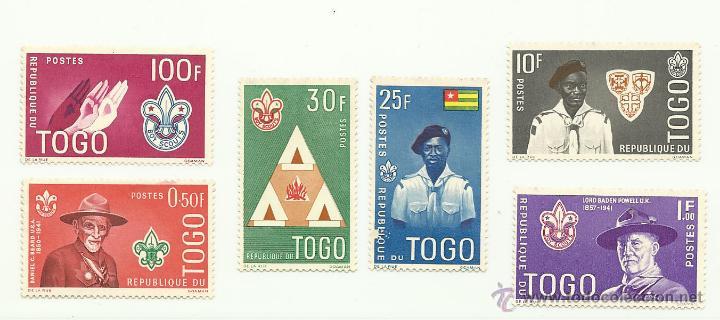 TEMÁTICA BOY SCOUTS. LOTE DE SELLOS DE TOGO (Sellos - Temáticas - Boy Scout)