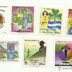 Sellos: TEMÁTICA BOY SCOUTS. LOTE DE SELLOS DE SAN SALVADOR. Lote 52713190
