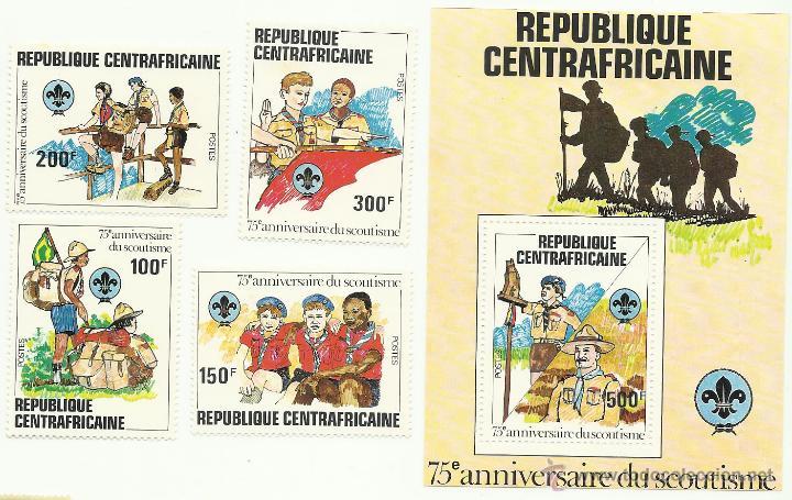 TEMÁTICA BOY SCOUTS. ESPECTACULAR LOTE DE SELLOS DE LA REPUBLICA CENTROAFRICANA (Sellos - Temáticas - Boy Scout)