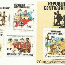 Sellos: TEMÁTICA BOY SCOUTS. ESPECTACULAR LOTE DE SELLOS DE LA REPUBLICA CENTROAFRICANA. Lote 52713258