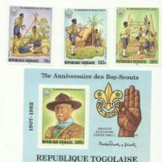 Sellos: TEMÁTICA BOY SCOUTS. ESPECTACULAR LOTE DE SELLOS DE LA REPUBLICA TOGOLESA (TOGOLAISE). Lote 52713311