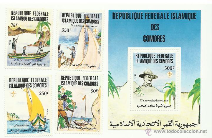 TEMÁTICA BOY SCOUTS. UNION DE LAS COMORAS (COMORES) (Sellos - Temáticas - Boy Scout)