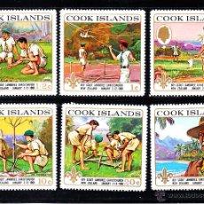 Sellos: COOK 197/202** - AÑO 1969 - 5ª JAMBOREE SCOUT DE CHRISTHCHURCH, NUEVA ZELANDA. Lote 194975231