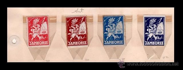 004 BOY SCOUTS - UKRANIA - RARA SERIE DE VIÑETAS CONMEMORATIVAS JAMBOREE 1947 (Sellos - Temáticas - Boy Scout)