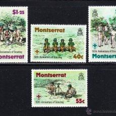 Sellos: MONTSERRAT 398/401** - AÑO 1979 - 50º ANIVERSARIO DEL MOVIMIENTO SCOUT EN MONTSERRAT. Lote 212570610
